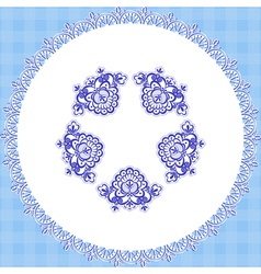blue cloth round vector image vector image