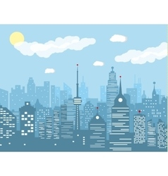 City skyline at day vector image vector image