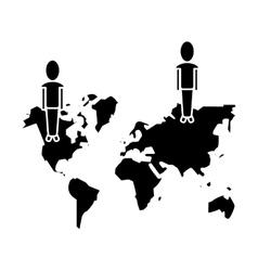 community world social media network pictogram vector image vector image