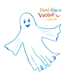 Cute smiling ghost vector image