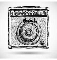 Guitar Combo Amplifier vector image