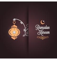 ramadan kareem greeting card design background vector image