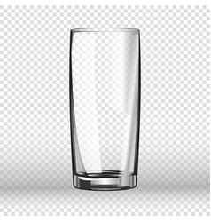 realistic long drinking glass isolated on vector image