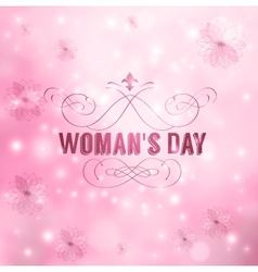 Womans Day vector image