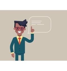 Black man holding up his index finger vector image