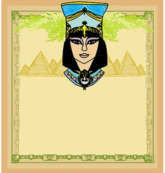 Egyptian queen Cleopatra frame vector image