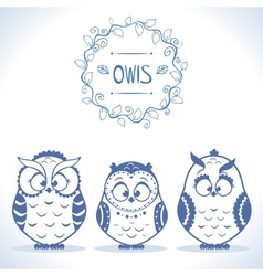 owls cute vector image vector image
