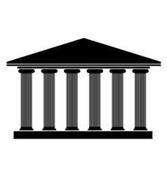 silhouette an ancient building in the greek style vector image