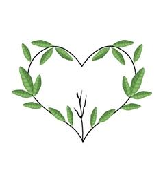 Tree Branch in Heart Shape Wreath vector image