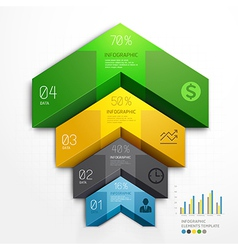 3d arrow infographics diagram business template vector image