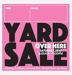 50 percent yard sale promotion sale banner vector