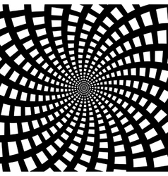 A black and white spiral optical vector