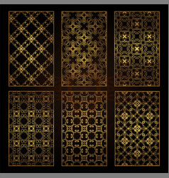 A set of decorative patterns for laser cutting a vector