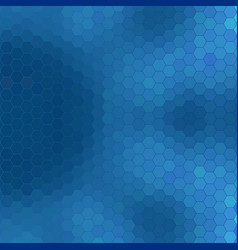 abstract geometric hexagon grid - shades of blue vector image