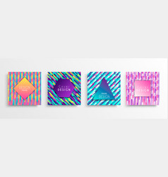 abstract gradient background template design set vector image