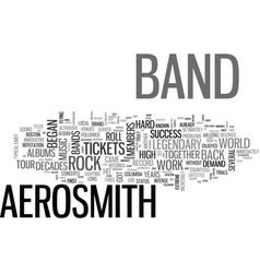 Aerosmith tickets are back and so is a truly vector