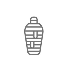 ancient egyptian mummy line icon vector image