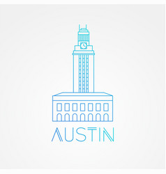 austin usa detailed silhouette vector image