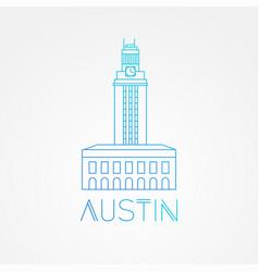Austin usa detailed silhouette vector