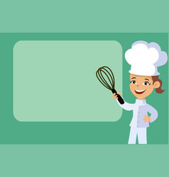Backery chef woman banner background vector