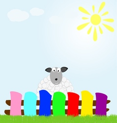 Background with sheep vector image