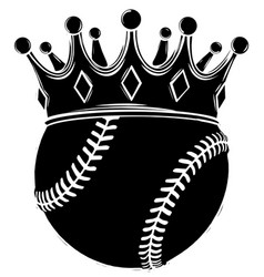 baseball ball in golden royal crown concept of vector image