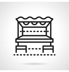 Beach bar black line design icon vector image