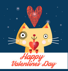 bright love cat vector image