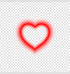 bright neon heart vector image