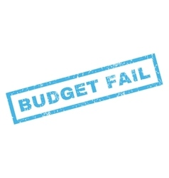 Budget Fail Rubber Stamp vector
