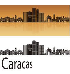 Caracas v2 skyline vector