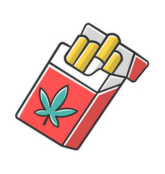 cigarettes color icon weed product cannabis vector image