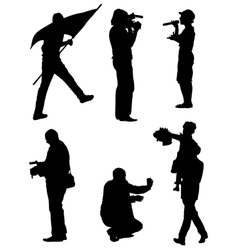 Collection silhouettes people vector
