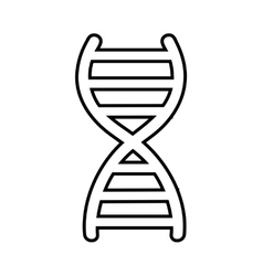 dna molecule symbol isolated icon design vector image