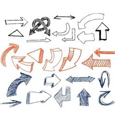 Drawn Arrows vector image