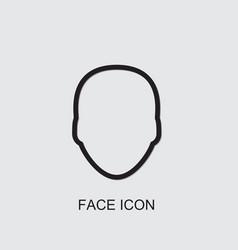 Face icon vector