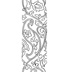 Floral elegant ornament vector