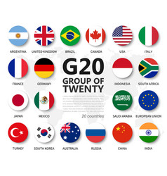 G20 group twenty countries and membership vector