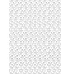 hexagonal white abstract background 3d hexagons vector image