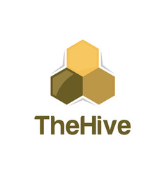 Hive honey bee logo design honey logo product vector