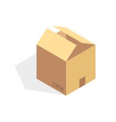 Isometric cardboard icon cartoon package box vector