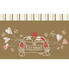 Just married auto vector