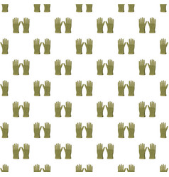 Khaki colored gloves pattern vector