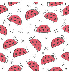 ladybug seamless pattern abstract texture vector image