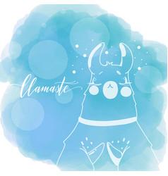 Lama in cartoon style vector