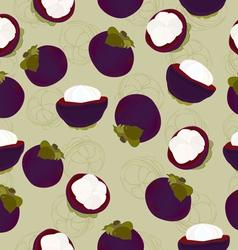 mangosteen fruit seamless vector image