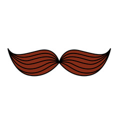 mexican mustache isolated icon vector image