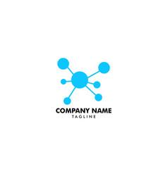 Molecule logo template icon vector