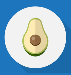 Of berry symbol on avocado vector