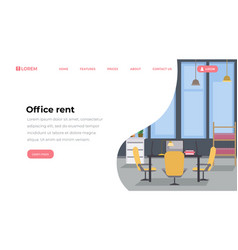 office rent landing page flat template empty vector image
